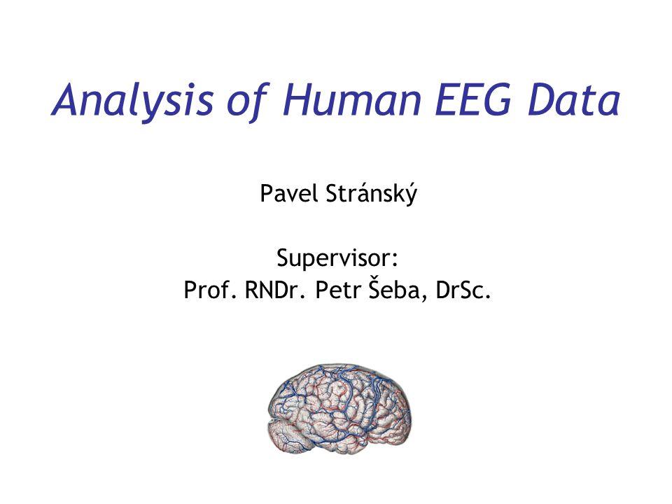 Analysis of Human EEG Data Pavel Stránský Supervisor: Prof. RNDr. Petr Šeba, DrSc.