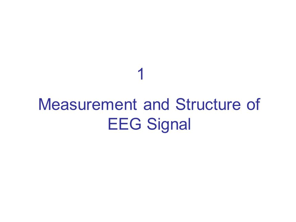 1 Measurement and Structure of EEG Signal