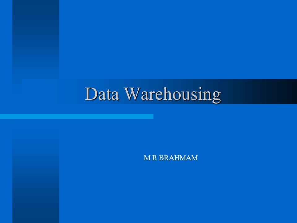 Data Warehousing - Architecture Enterprise Data Warehouse Enterprise Data Warehouse Data Mart Execution Systems CRM ERP Legacy e-Commerce Execution Systems CRM ERP Legacy e-Commerce Reporting Tools OLAP Tools Ad Hoc Query Tools Data Mining Tools Reporting Tools OLAP Tools Ad Hoc Query Tools Data Mining Tools External Data Purchased Market Data Spreadsheets External Data Purchased Market Data Spreadsheets Oracle SQL Server Teradata DB2 Data and Metadata Repository Layer ETL Tools: Informatica PowerMart ETI Oracle Warehouse Builder Custom programs SQL scripts Extract, Transformation, and Load (ETL) Layer Cleanse Data Filter Records Standardize Values Decode Values Apply Business Rules Householding Dedupe Records Merge Records Extract, Transformation, and Load (ETL) Layer Cleanse Data Filter Records Standardize Values Decode Values Apply Business Rules Householding Dedupe Records Merge Records Presentation Layer ETL Layer Metadata Repository ODS PeopleSoft SAP Siebel Oracle Applications Manugistics Custom Systems Data Mart Custom Tools HTML Reports Cognos Business Objects MicroStrategy Oracle Discoverer Brio Data Mining Tools Portals Source Systems Sample Technologies: