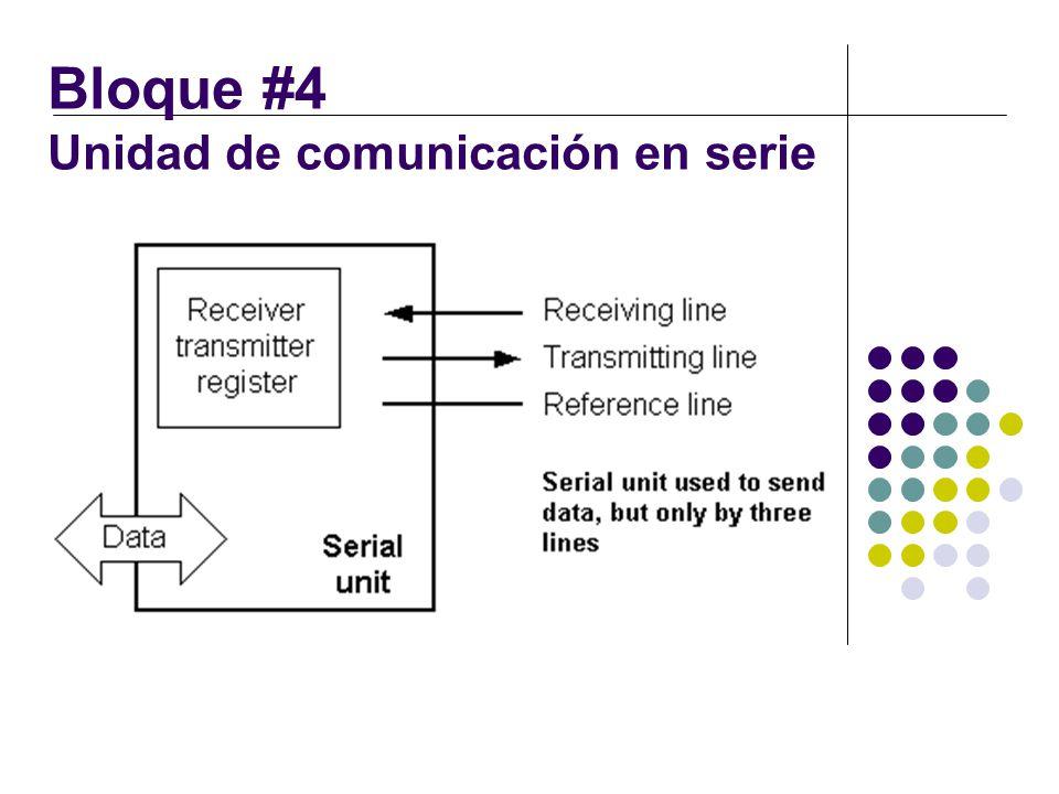 Bloque #4 Unidad de comunicación en serie
