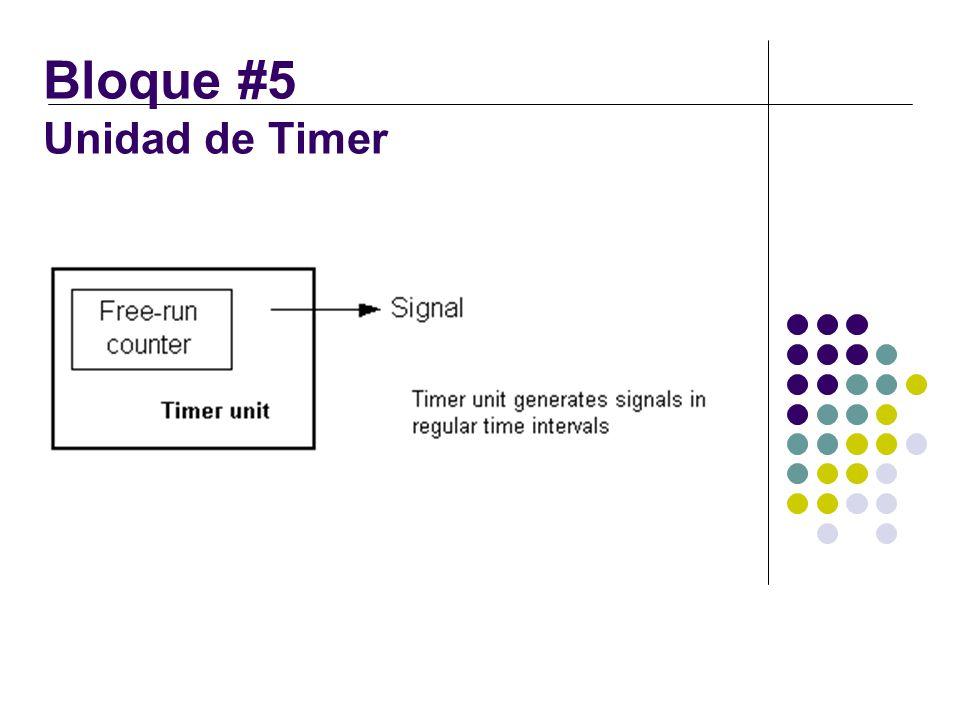 Bloque #5 Unidad de Timer