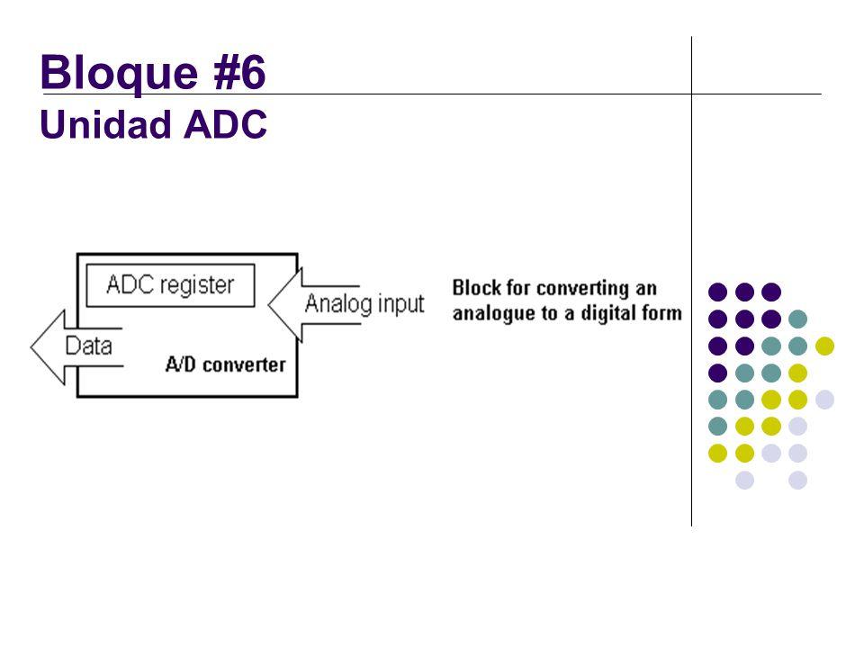 Bloque #6 Unidad ADC