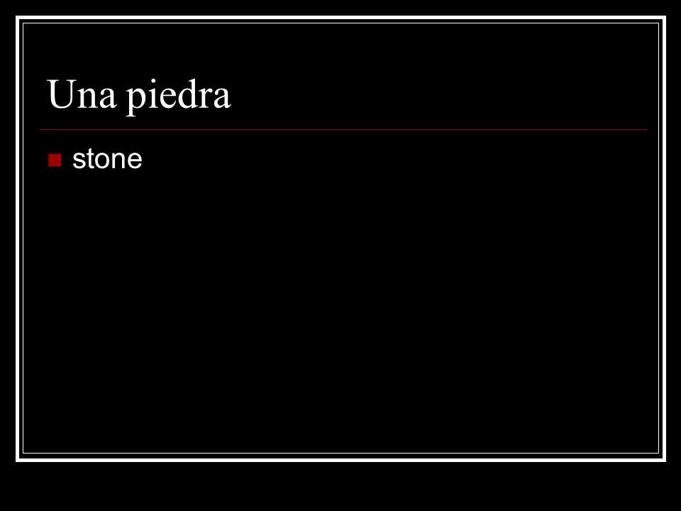 Una piedra stone