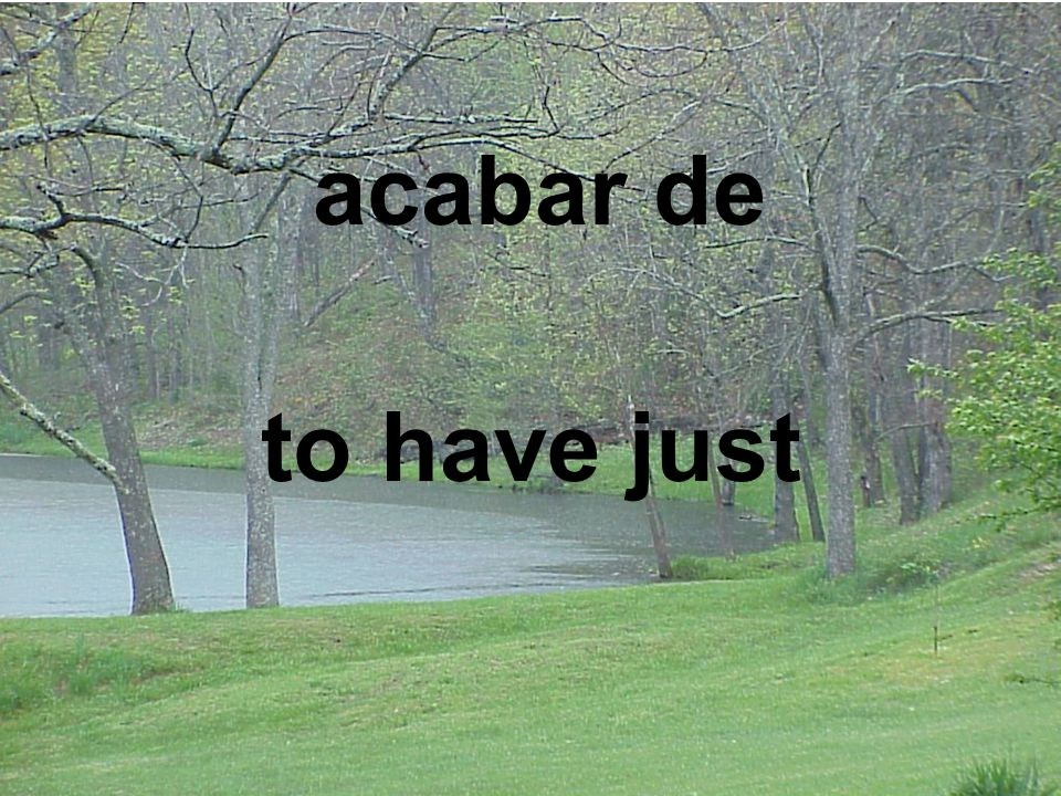 acabar de to have just