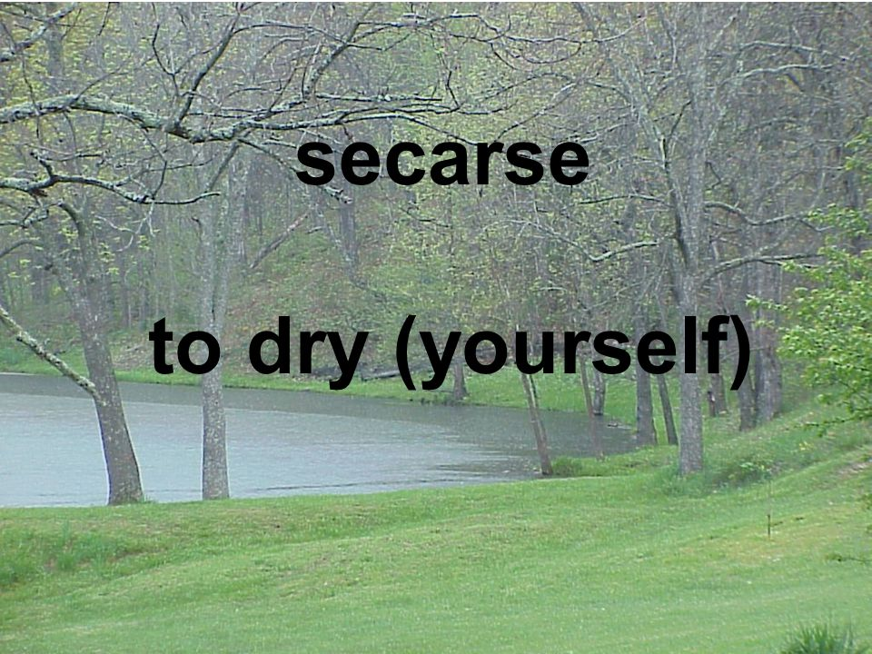 to dry (yourself) secarse