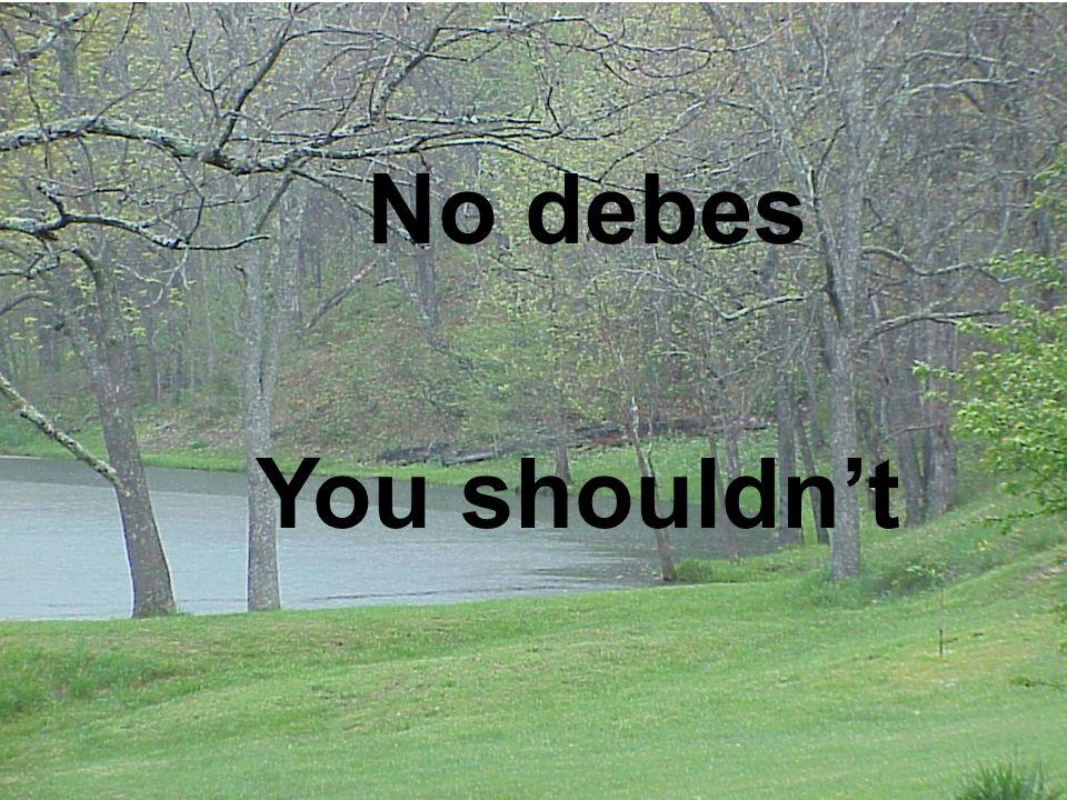 No debes You shouldn't