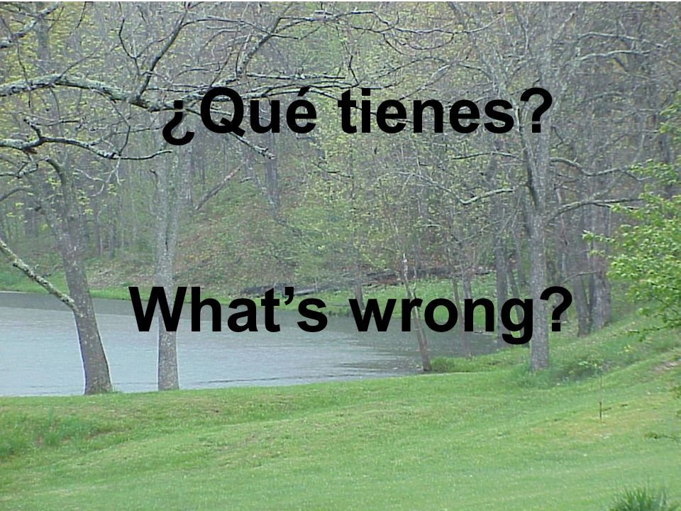 ¿Qué te pasa? What's wrong with you?