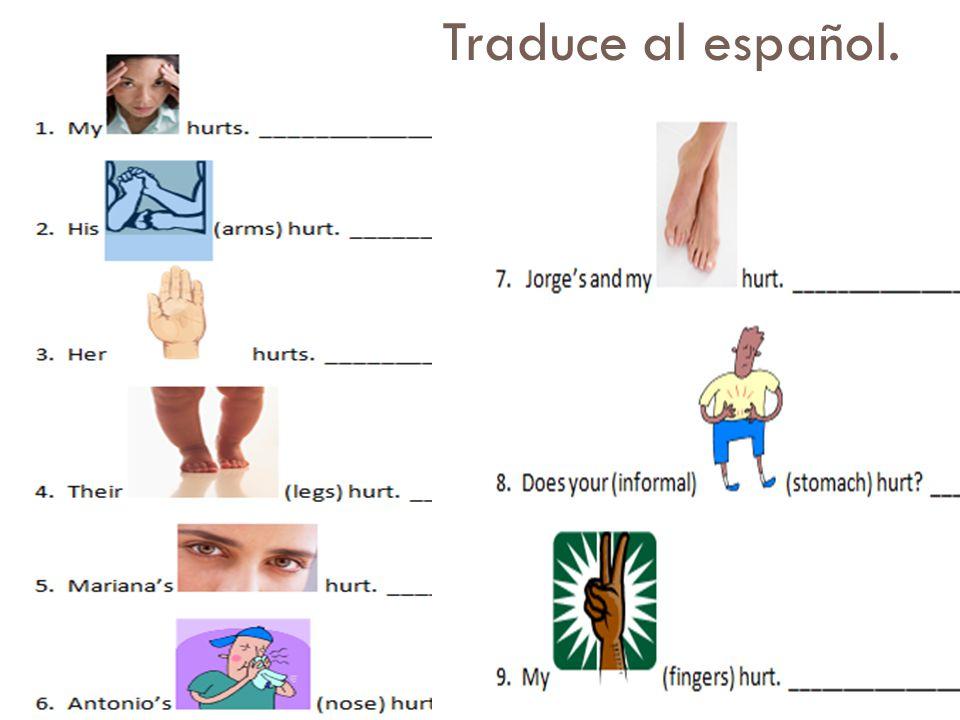 Traduce al español.