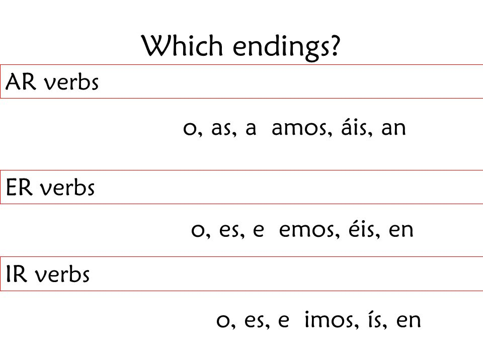 Which endings.