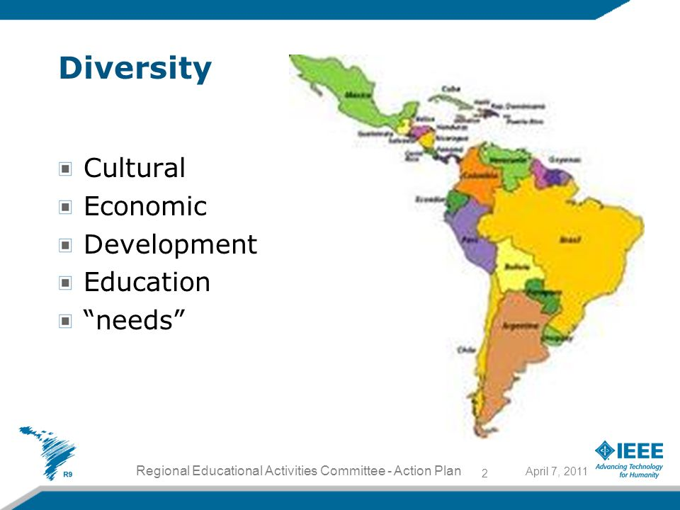 Diversity Cultural Economic Development Education needs 2 Regional Educational Activities Committee - Action Plan April 7, 2011