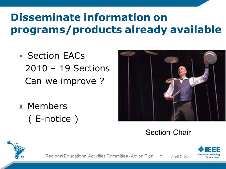Section EACs 2010 – 19 Sections Can we improve .