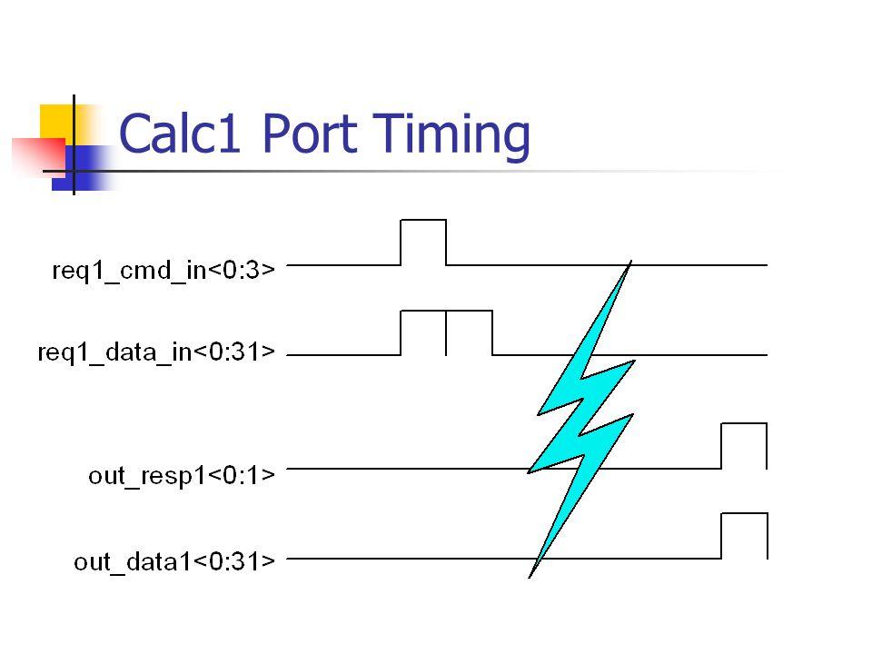 Calc1 Port Timing