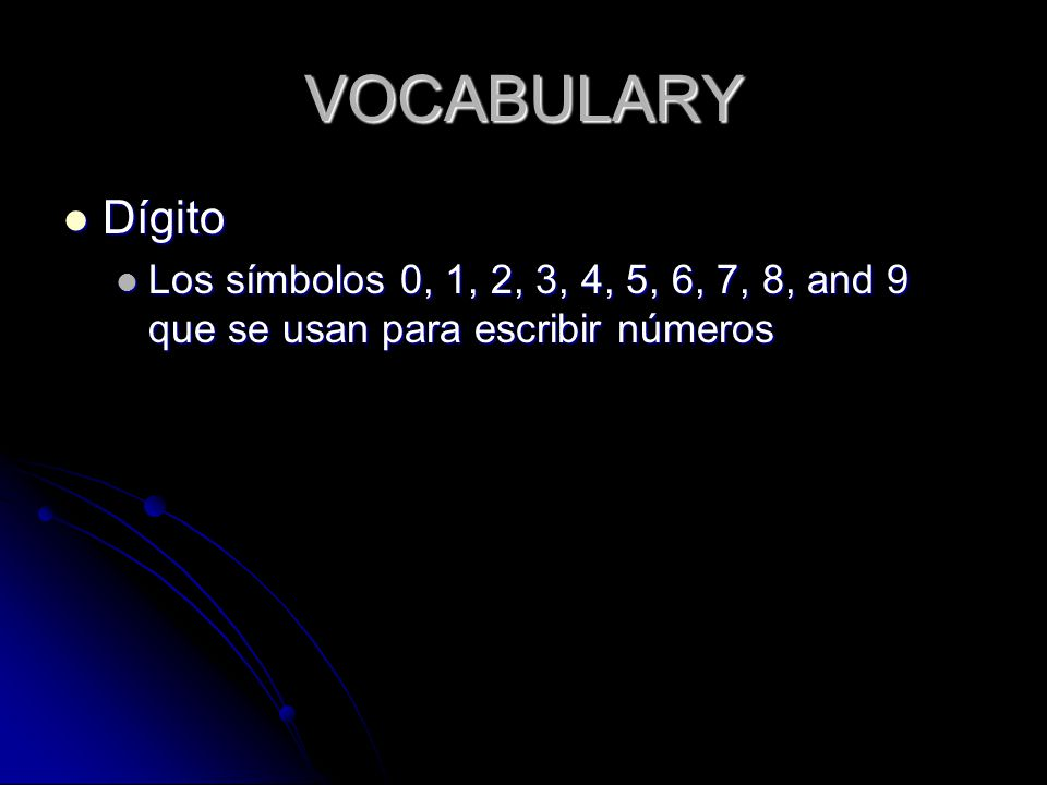 VOCABULARY Hundreds Hundreds The last place in each period (starting from the decimal point).