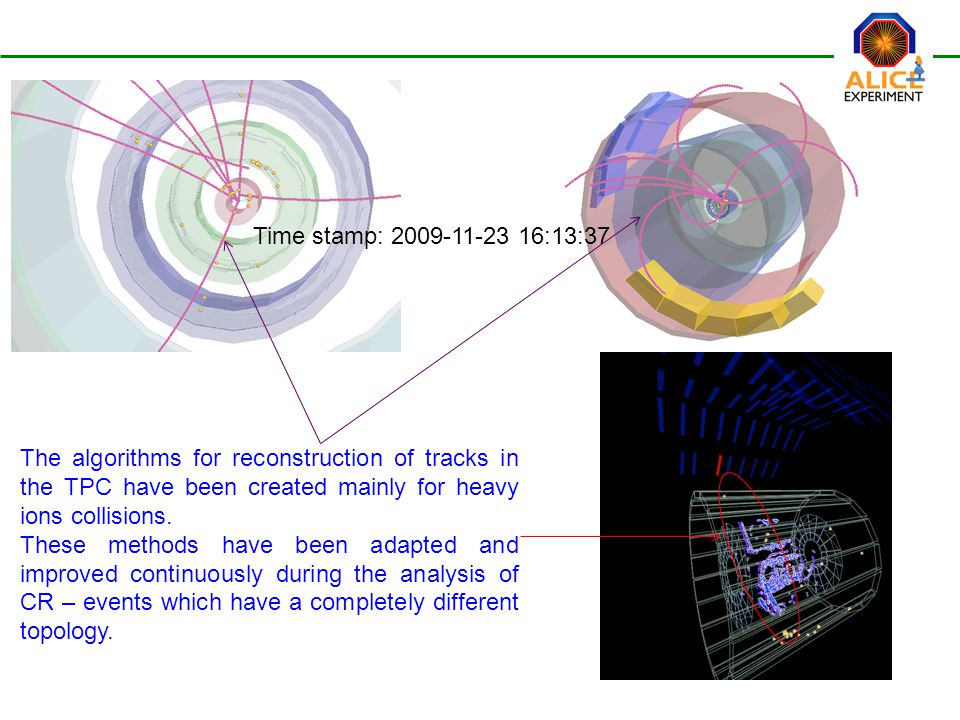 The algorithms for reconstruction of tracks in the TPC have been created mainly for heavy ions collisions.