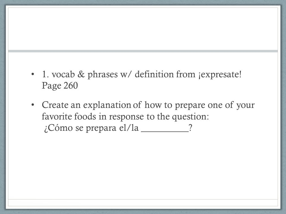 1.vocab & phrases w/ definition from ¡expresate.