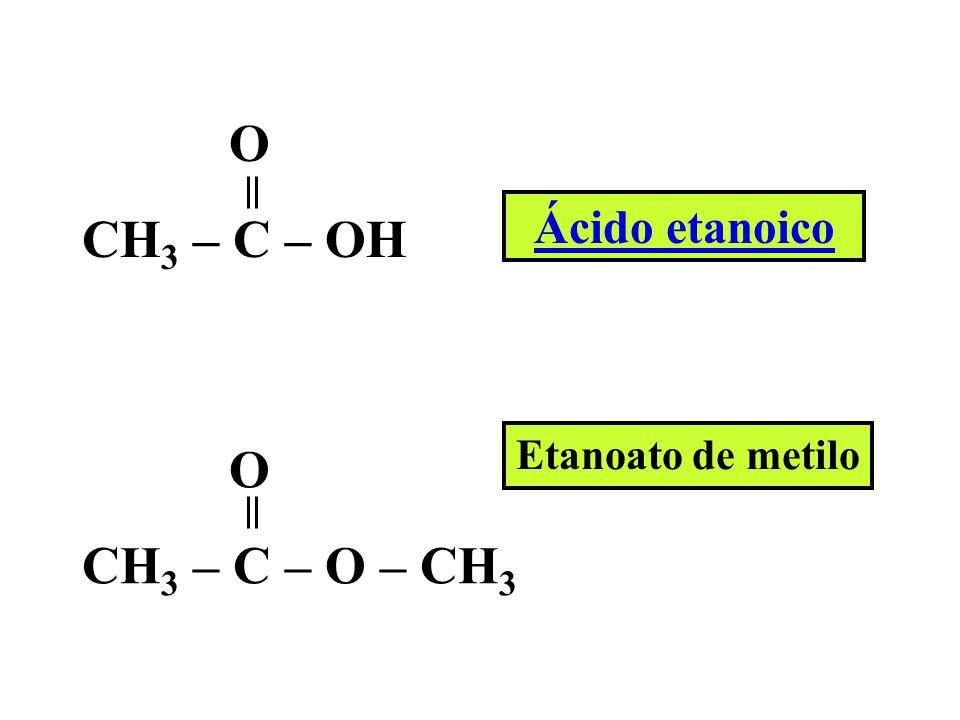 - C – O – H O Grupo carboxilo, característico de los ácidos carboxílicos.