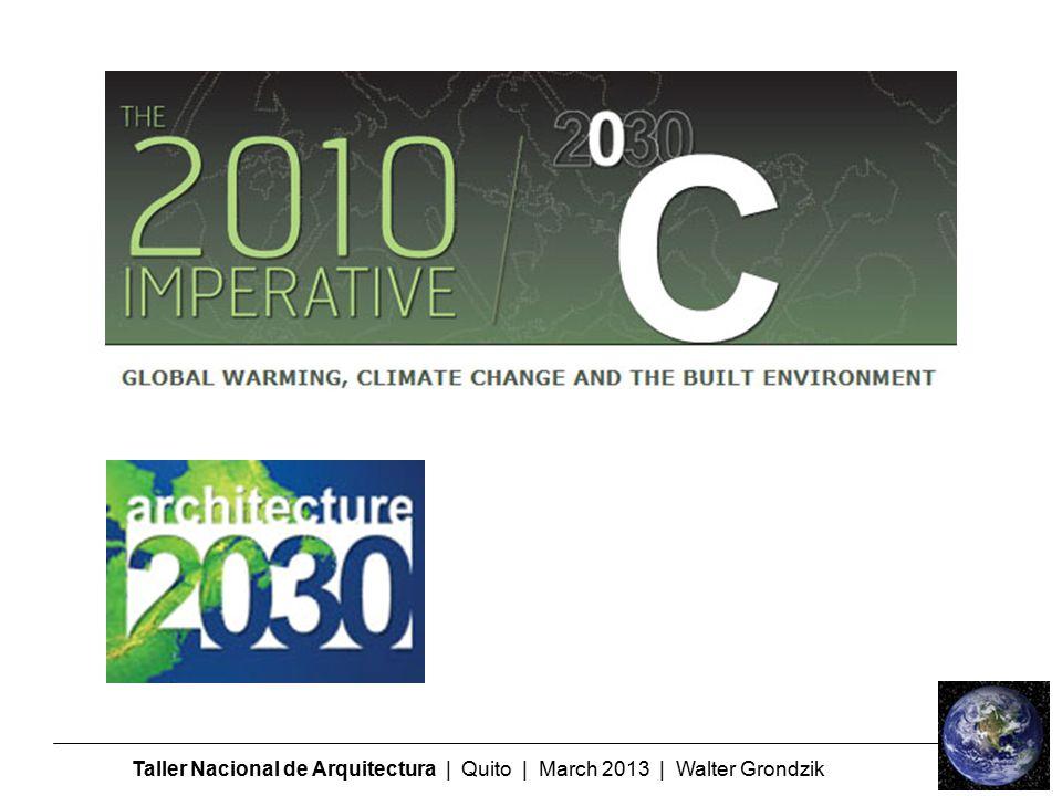 Taller Nacional de Arquitectura | Quito | March 2013 | Walter Grondzik
