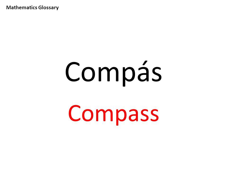 Mathematics Glossary Compás Compass