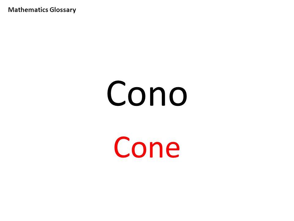 Mathematics Glossary Cono Cone