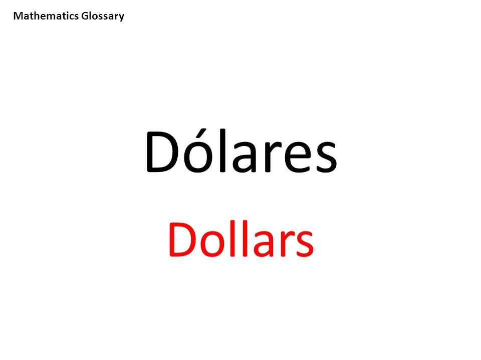 Mathematics Glossary Dólares Dollars