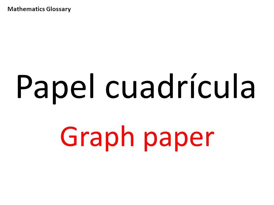 Mathematics Glossary Papel cuadrícula Graph paper