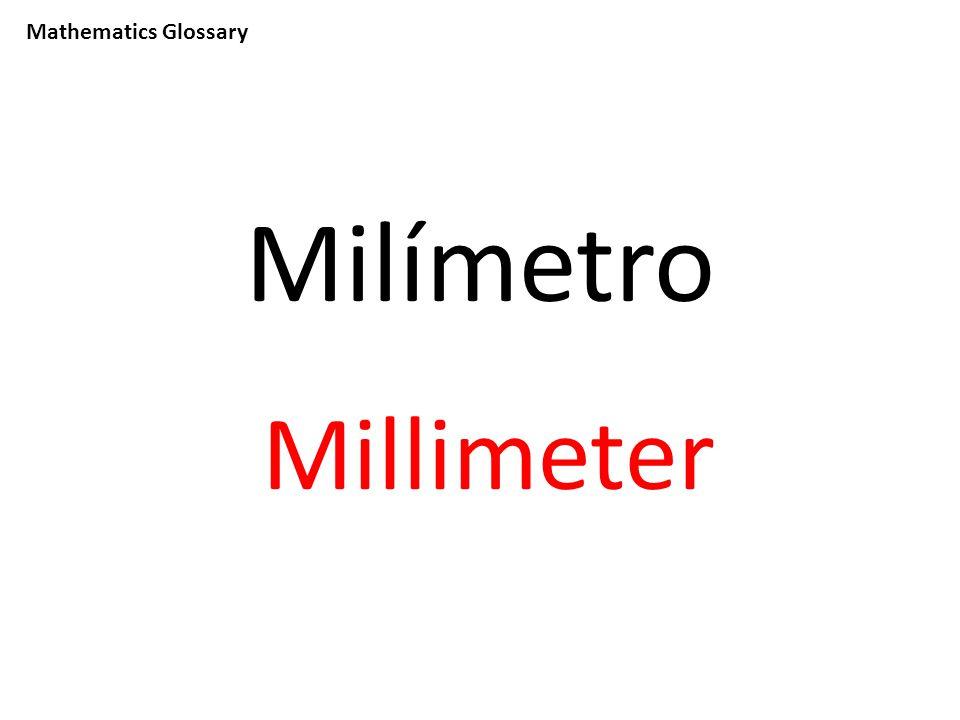 Mathematics Glossary Milímetro Millimeter