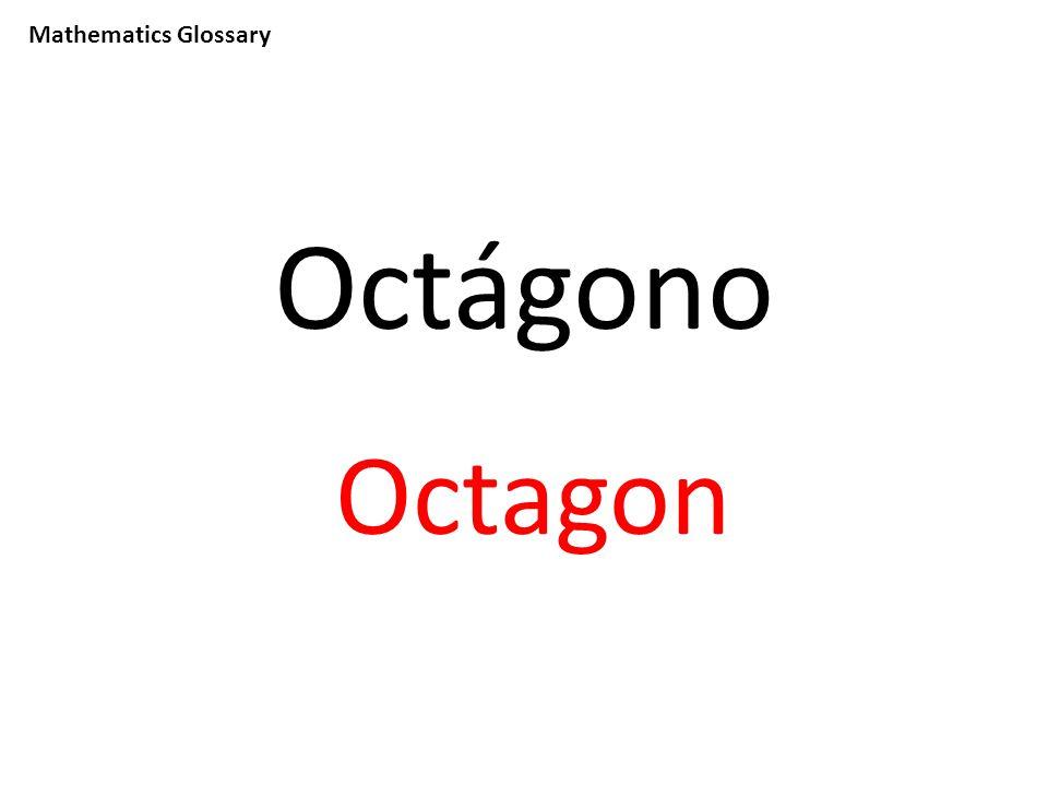 Mathematics Glossary Octágono Octagon
