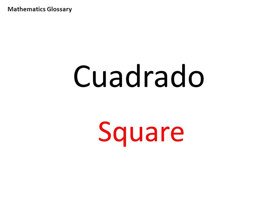 Mathematics Glossary Cuadrado Square