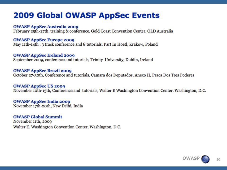 20 OWASP