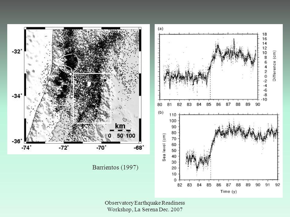 Observatory Earthquake Readiness Workshop, La Serena Dec. 2007 Chillan, 1939 Beck et al., (1998)