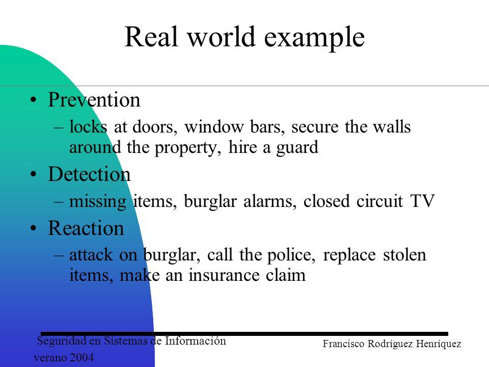 Seguridad en Sistemas de Información verano 2004 Francisco Rodríguez Henríquez A Simplified Model of Conventional Encryption