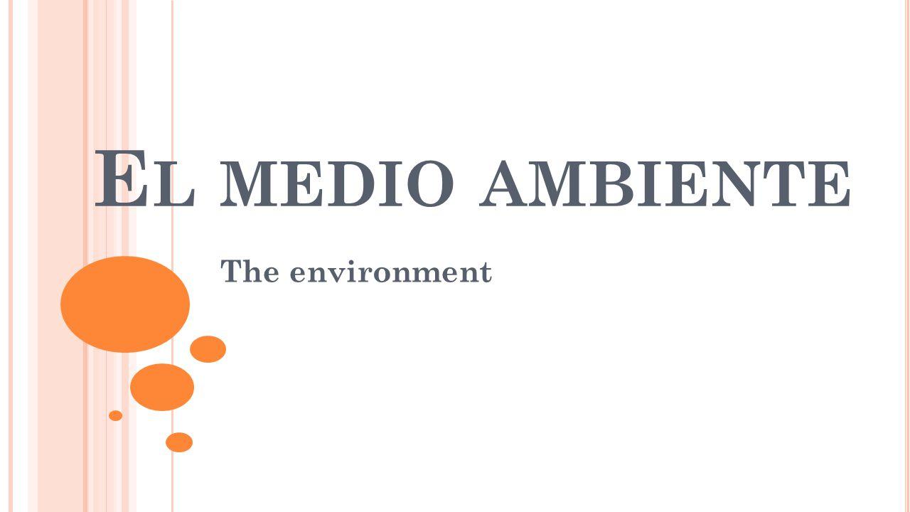 E L MEDIO AMBIENTE The environment