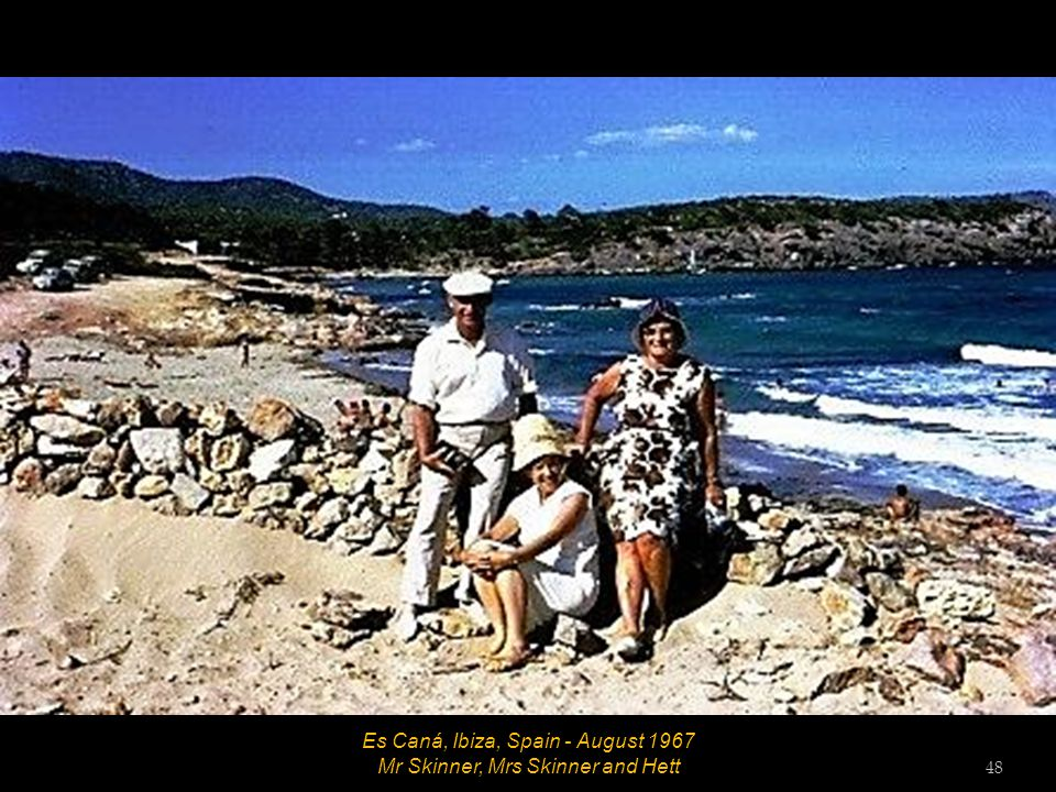 Es Caná, Ibiza, Spain - August 1967 Mrs Skinner, Mr Skinner and Hett 47