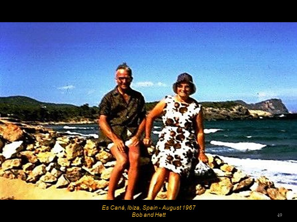 Es Caná, Ibiza, Spain - August 1967 Mr Skinner, Mrs Skinner and Hett 48