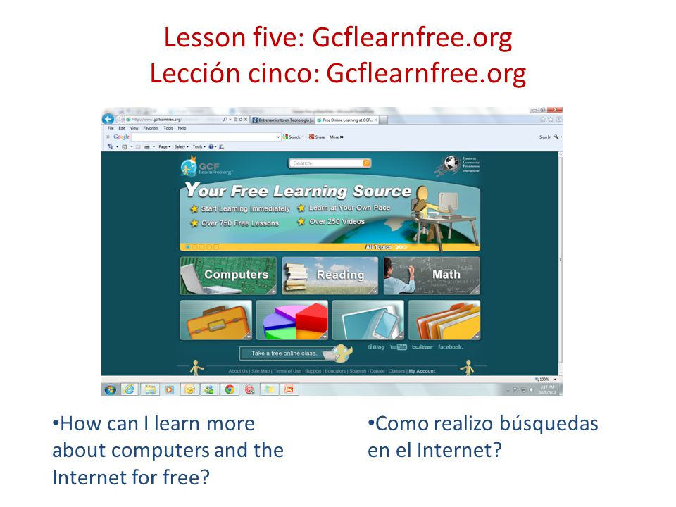 gcflearnfree.org Use the address bar to type in gcflearnfree.org.