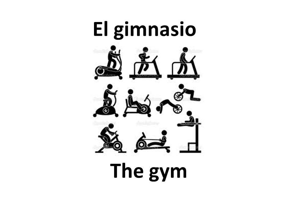 The gym El gimnasio