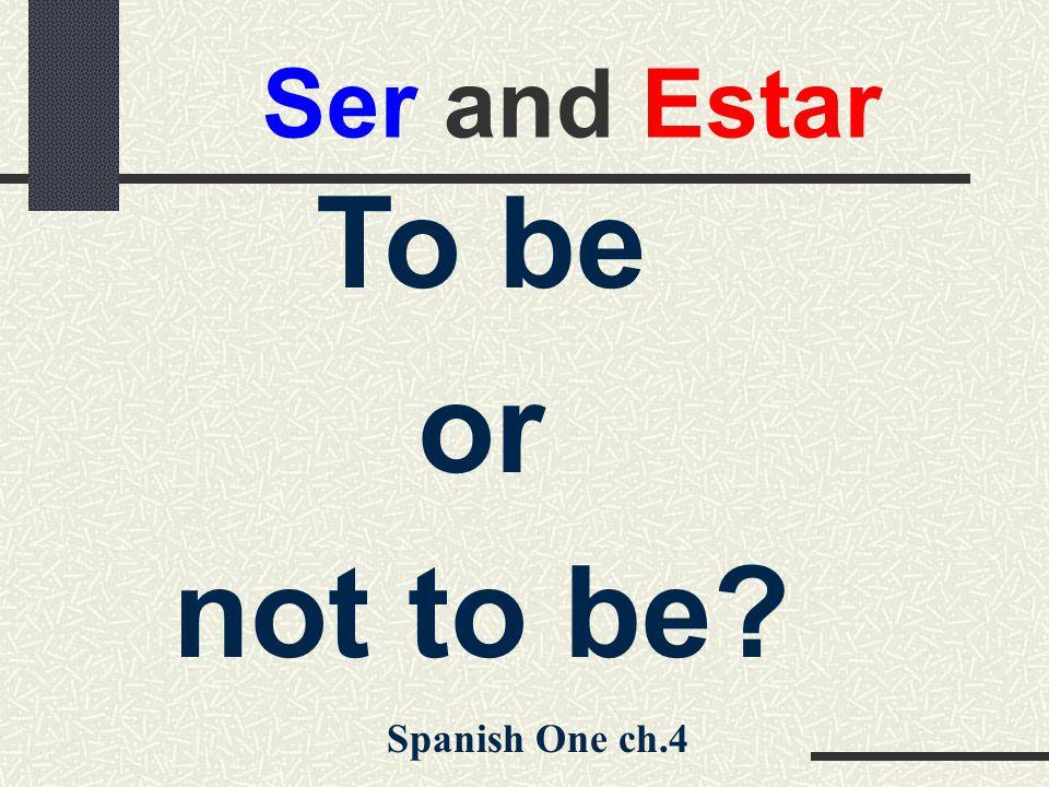 Conjugation of Ser Present Indicative soy somos eres -------- es son