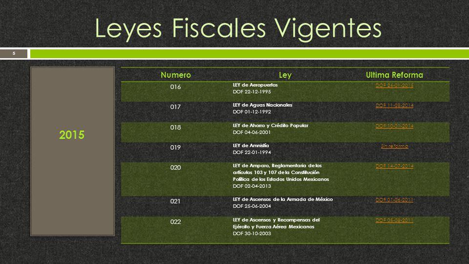 Leyes Fiscales Vigentes 5 2015