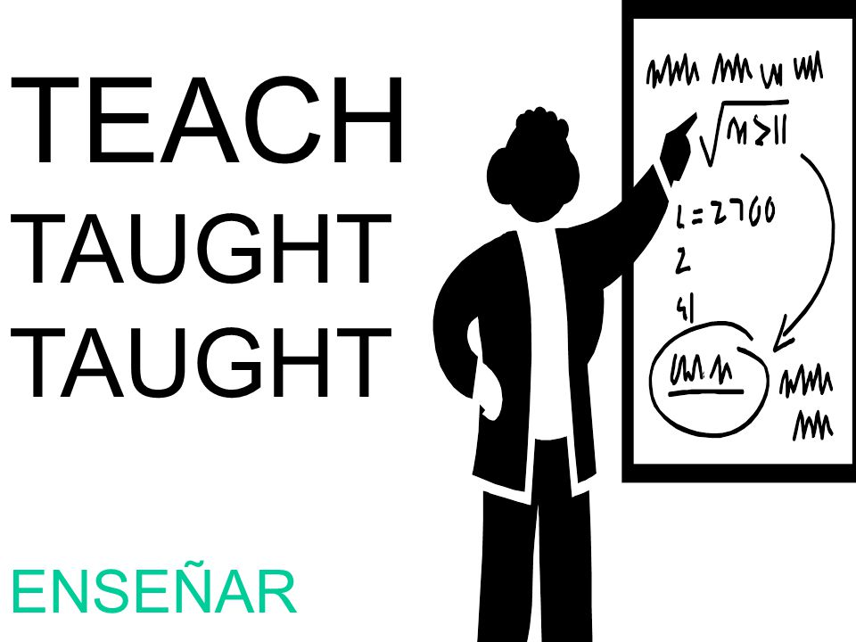 TEACH TAUGHT ENSEÑAR