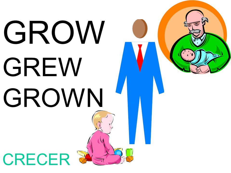 GROW GREW GROWN CRECER