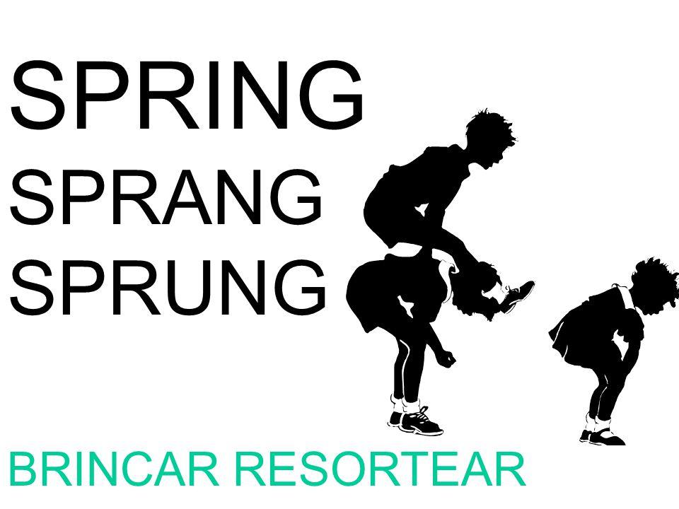 SPRING SPRANG SPRUNG BRINCAR RESORTEAR