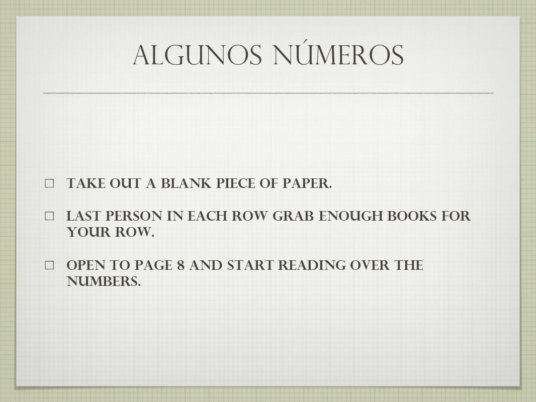 ¿cuál es tu número de teléfono.go around the room asking nine people their telephone number.