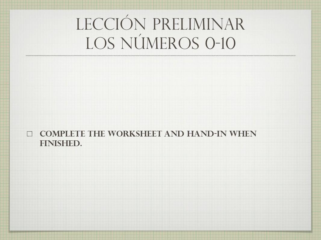 tarea (homework) due at the beginning of class tomorrow!!.