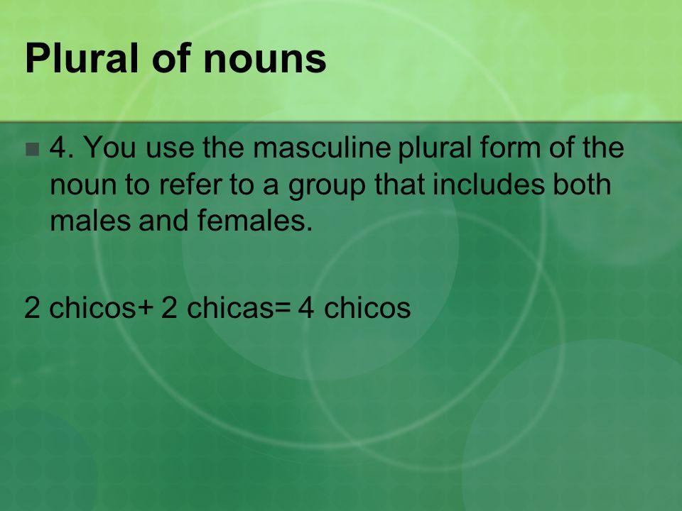 Plural of nouns 4.