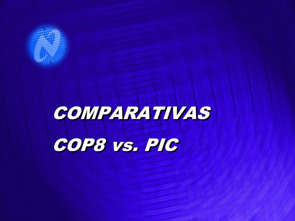 COMPARATIVAS COP8 vs. PIC