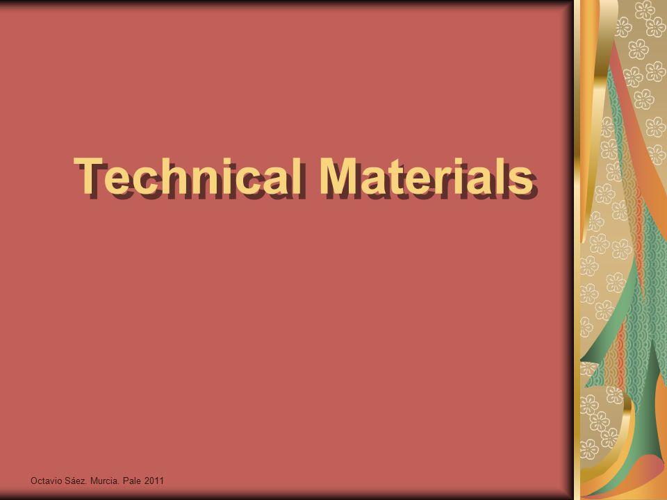 Octavio Sáez. Murcia. Pale 2011 Technical Materials