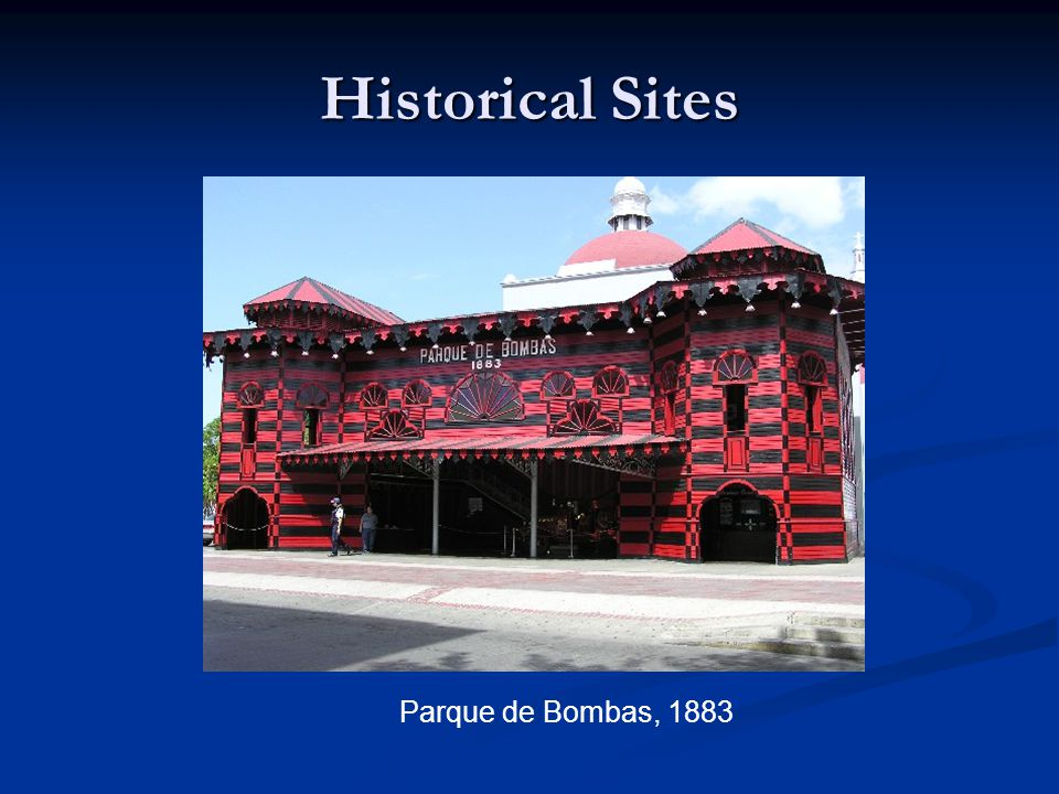 Historical Sites Parque de Bombas, 1883