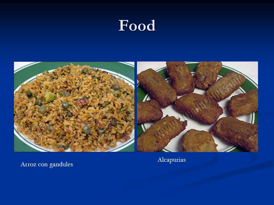 Food Arroz con gandules Alcapurias