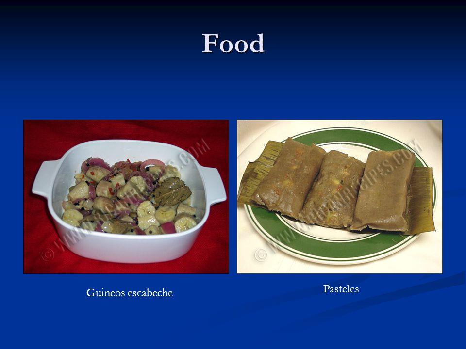 Food Guineos escabeche Pasteles