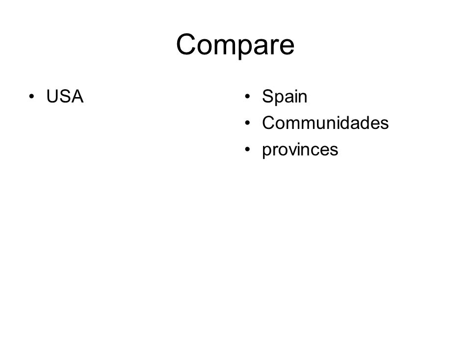 Compare USASpain Communidades provinces